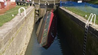 ITV Wales News Capsized Boat