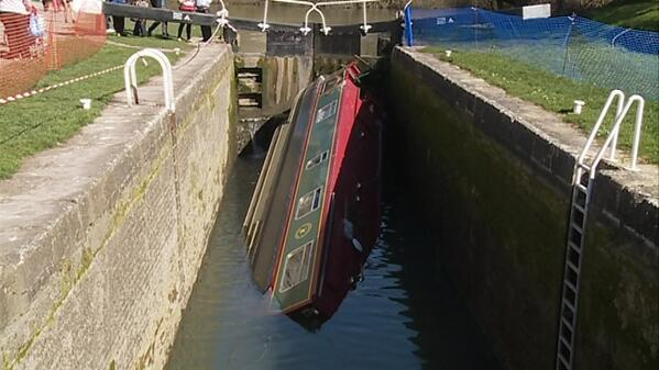 ITV Wales News Capsized Boat
